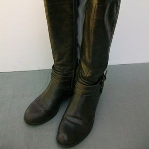 UNISA Womens Riding Boots Sz 6 M Brown Zip Up